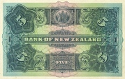 5 Pounds (Bank of New Zeland) – reverse