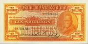 10 Shillings (Bank of New Zealand) -  obverse