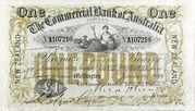 1 Pound (Commercial Bank of Australia Ltd.) – obverse
