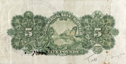 5 Pounds (Commercial Bank of Australia Ltd.) – reverse