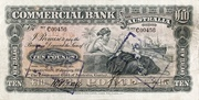 10 Pounds (Commercial Bank of Australia Ltd.) – obverse