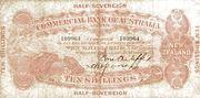 10 Shillings (Commercial Bank of Australia Ltd.) -  obverse