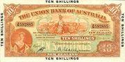 10 Shillings - Victoria (Union Bank of Australia Ltd.; orange) -  obverse