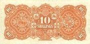 10 Shillings - Victoria (Union Bank of Australia Ltd.; orange) -  reverse