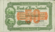 50 Pounds (Bank of New Zealand) – obverse
