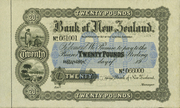20 Pounds (Bank of New Zealand) – obverse