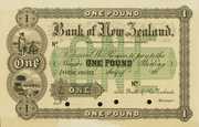 1 Pound (Bank of New Zealand) – obverse