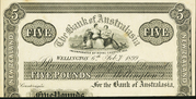 5 Pounds (Bank of Australasia) – obverse