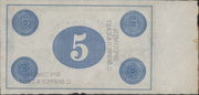 5 Pounds (Bank of New South Wales) – reverse