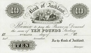 10 Pounds (Bank of Auckland) – obverse