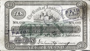 10 Pounds (Bank of Australasia) – obverse