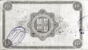 10 Pounds (Bank of Australasia) – reverse