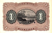 1 Pound (Bank of New Zealand) – reverse