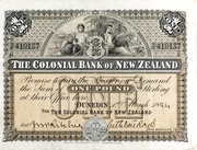 1 Pound (Colonial Bank of New Zealand) – obverse