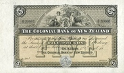5 Pounds (Colonial Bank of New Zealand) – obverse