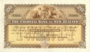 20 Pounds (Colonial Bank of New Zealand) – obverse