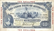 10 Shillings (Union Bank of Australia Limited) – obverse
