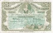 5 Pounds (Union Bank of Australia Limited) – obverse