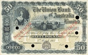 50 Pounds (Union Bank of Australia Limited) – obverse
