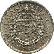 ½ Crown - Elizabeth II (1st portrait) – reverse