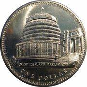 1 Dollar - Elizabeth II (2nd Portrait; Coronation Jubilee) -  obverse