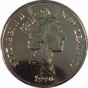 5 Cents - Elizabeth II (3rd Portrait; Treaty of Waitangi) – obverse