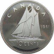 5 Cents - Elizabeth II (2nd portrait; Mule) – reverse
