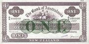 1 Pound (Bank of Australasia; 5 circles; straight border) – obverse
