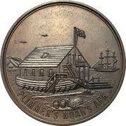 Medal - Centenary of the Chamber of Commerce of Wellington – reverse