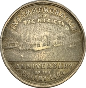 Medal - 50 years of New Zealand colony – obverse