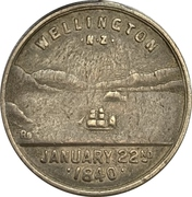 Medal - 50 years of New Zealand colony – reverse
