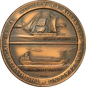 Medal - Centenary of the Auckland Harbour Board – reverse