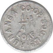 Token - ¼ Pound Loaf - Runanga Co-op. Soc. Ltd. – obverse