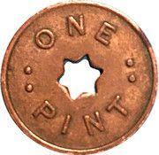 Token - 1 Pint Milk - R.W. Chadfield Wanganui – reverse