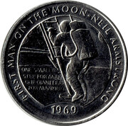 Medal - Millennium Collection - First Man on the Moon – obverse