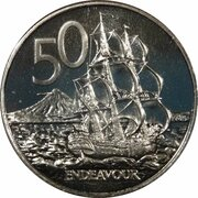 50 Cents - Elizabeth II (4th portrait; non-magnetic) -  reverse