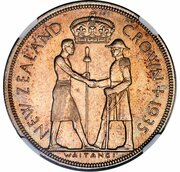 1 Crown - George V (95 Years of the Treaty of Waitangi; pattern) – reverse