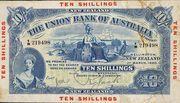 10 Shillings - Victoria (Union Bank of Australia Ltd.; blue) -  obverse