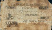 1 Pound (Bank of Otago Limited) – obverse