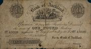 1 Pound (Bank of Auckland) – obverse