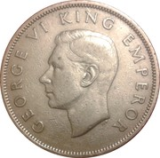 ½ Crown - George VI (2nd type) – obverse