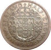 ½ Crown - George VI (2nd type) – reverse
