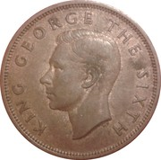 1 Penny - George VI (2nd type) – obverse
