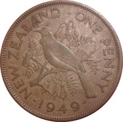 1 Penny - George VI (2nd type) – reverse