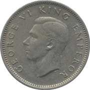 6 Pence - George VI (2nd type) – obverse