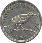 6 Pence - George VI (2nd type) – reverse
