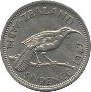 6 Pence - George VI (2nd type) – reverse