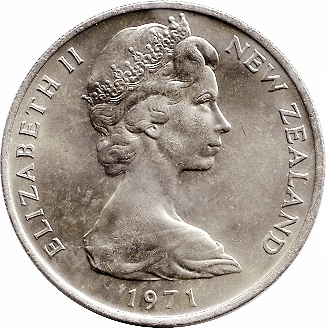 20 Cents - Elizabeth II (2nd portrait) - New Zealand – Numista