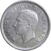 6 Pence - George VI (1st type) – obverse