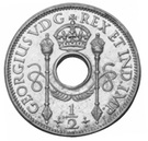 ½ Penny - George V (Trial Strike) – obverse
